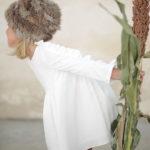 Ochuss Moda Infantil 2017 Vestido Libélula Blanca