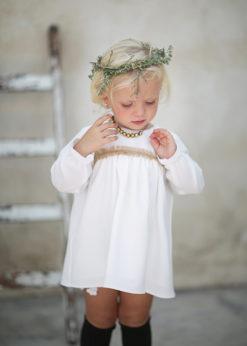 Ochuss Moda Infantil 2017 Vestido Mariquita Arras